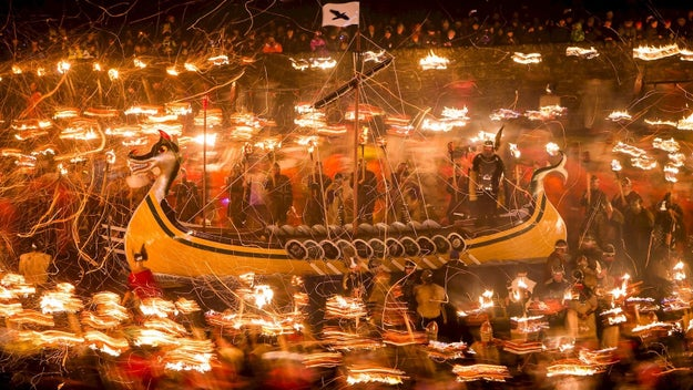Defy the darkness at a Viking fire festival.