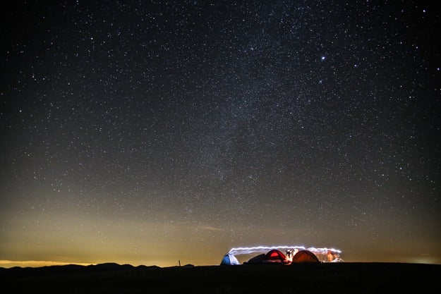 Or go wild camping (and star gazing) on the Isle of Coll.