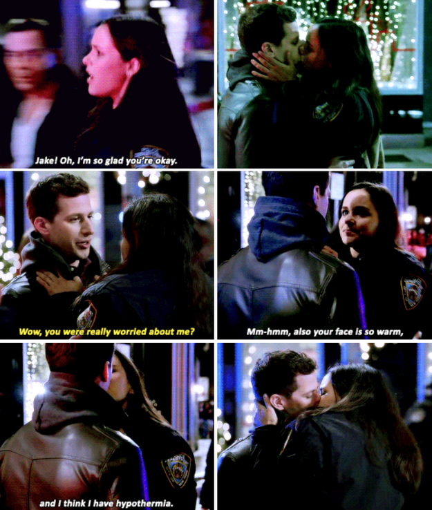 When Amy was honest about her reasons for kissing Jake.