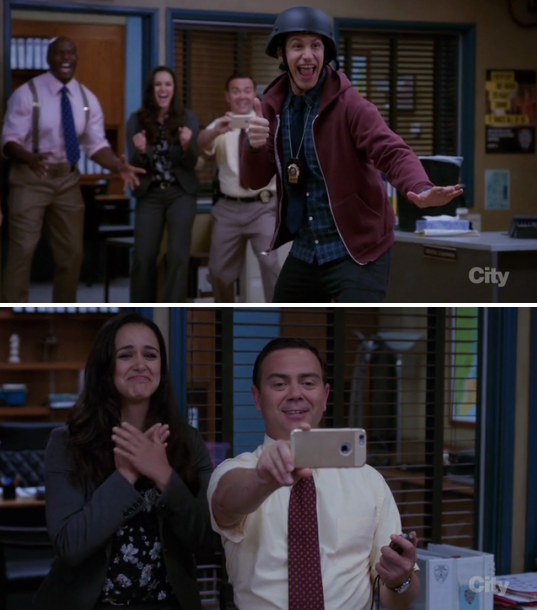 When Jake slid across the full bullpen in his socks, and Amy couldn't have been prouder.