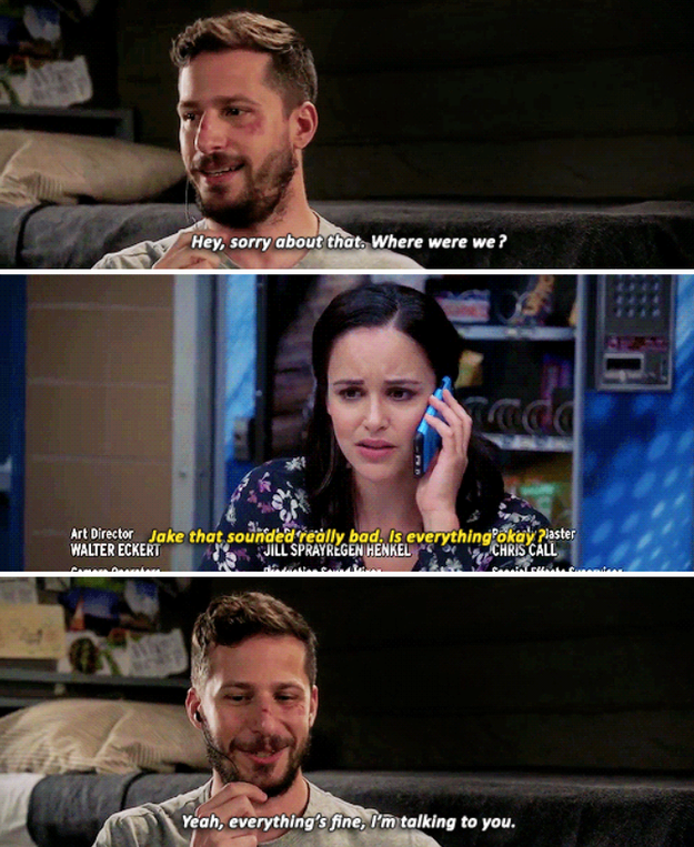 When Amy's voice made Jake feel better, even when he was in prison.
