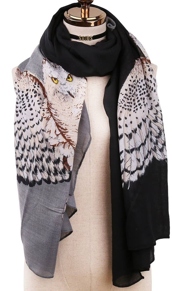 21 lightweight scarves perfect for pre winter weather an owl scarf that everyone loves to hang out with its known to be such a hoot gumiabroncs Gallery