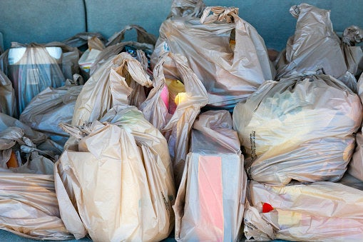 """""""I don't buy garbage bags. I use plastic or paper bags from the grocery store as garbage bags.""""—Victoria"""