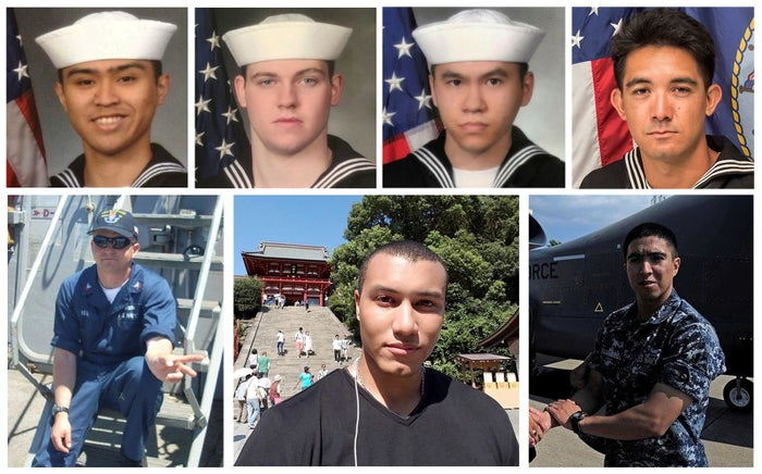 These sailors died in the collision of the USS Fitzgerald and Philippine-flagged merchant vessel on June 17, 2017.