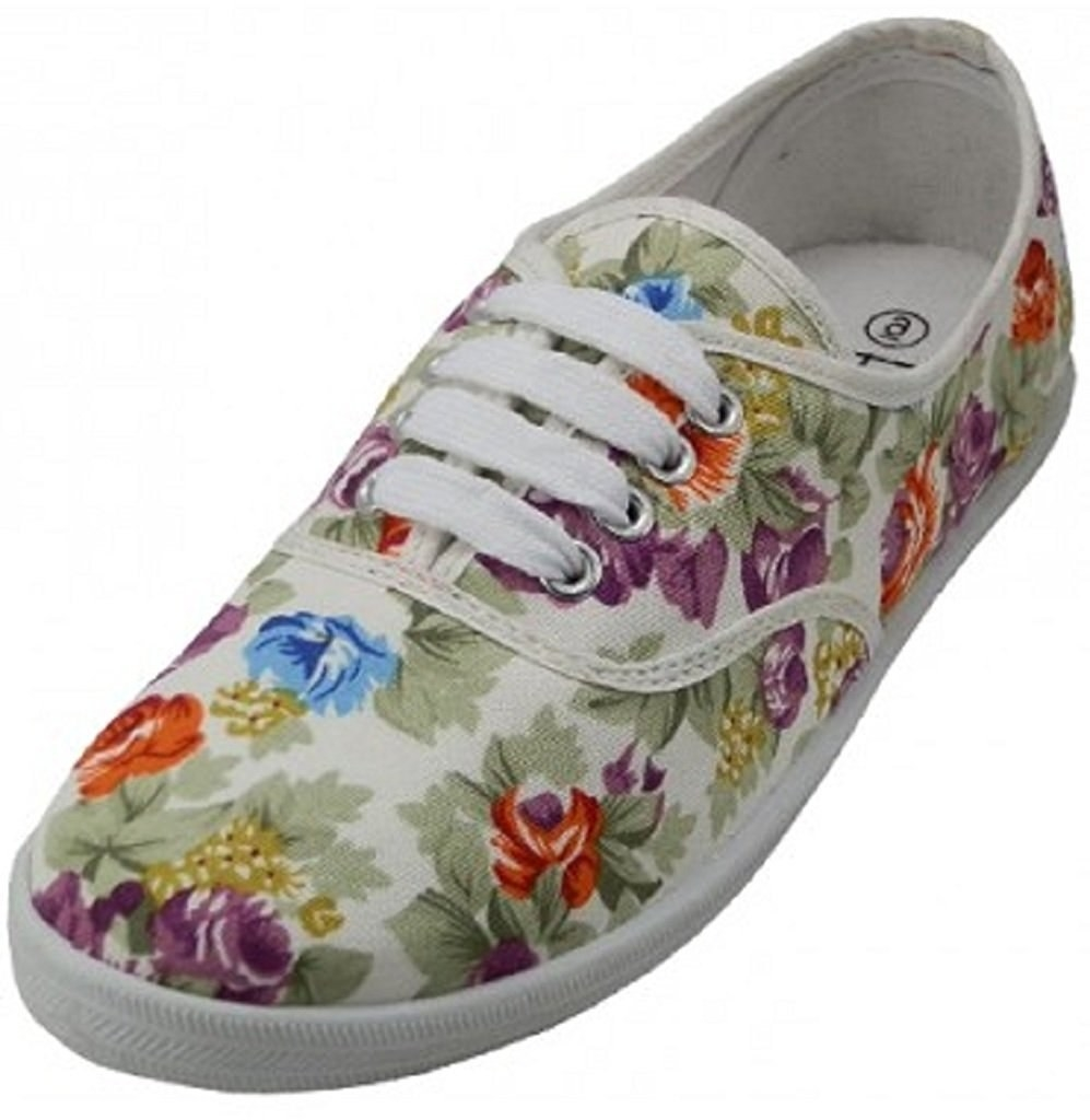 3. A pair of floral canvas lace-ups I'm sure you probably owned as a kid —  but now you can have the adult size version.