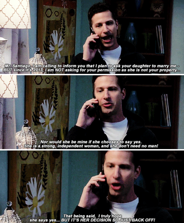 When Jake called Amy's dad tell him he was going to propose.