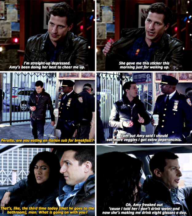 When Jake revealed all the ways Amy looks after him.