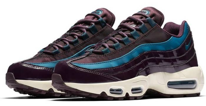 9878f0e203d1 33. And a pair of special edition Nike Air Max 95 in contrasting burgundy  and teal colors because these shoes are already 🔥 but then you put this  color ...