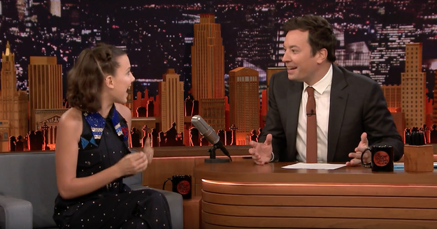 Last night, everyone's favourite '80s icon Millie Bobby Brown made an appearance on the Tonight Show to talk about the new season of Stranger Things.