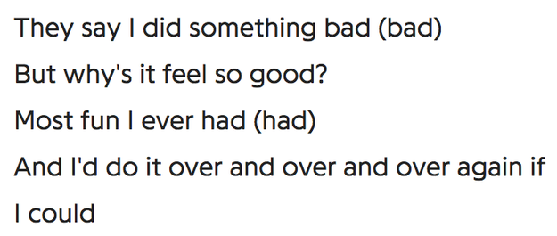 But, if the lyrics of the song are to be believed, Taylor isn't bothered about the situation at all. ¯\_(ツ)_/¯