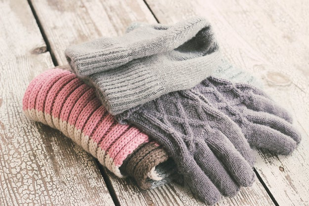 Leave all your warm clothes by the door so that there's no way you'll forget them when going out into the cold.