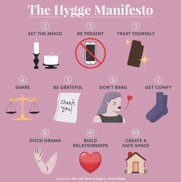 Explore the concept of hygge, and identify all the places you can employ it.