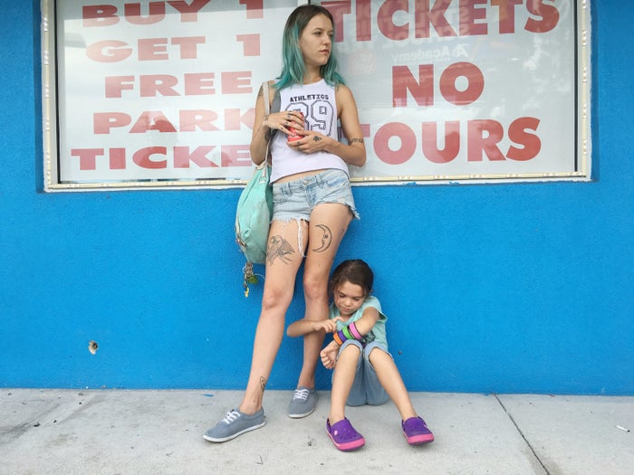 Bria Vinaite and Brooklynn Prince in The Florida Project.