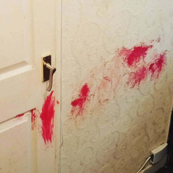 The mom who — minutes earlier — was wondering where her lipstick had gone.