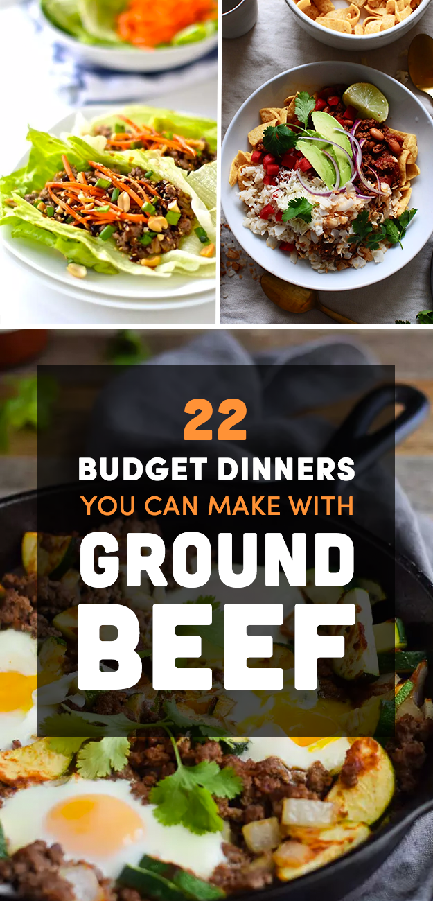 22 cheap dinner ideas that start with a pound of ground beef for What can you cook with ground beef