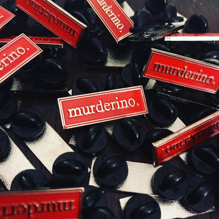 This pin makes it so easy for to meet fellow murderinos on the street! Get it at Enamel Heart.