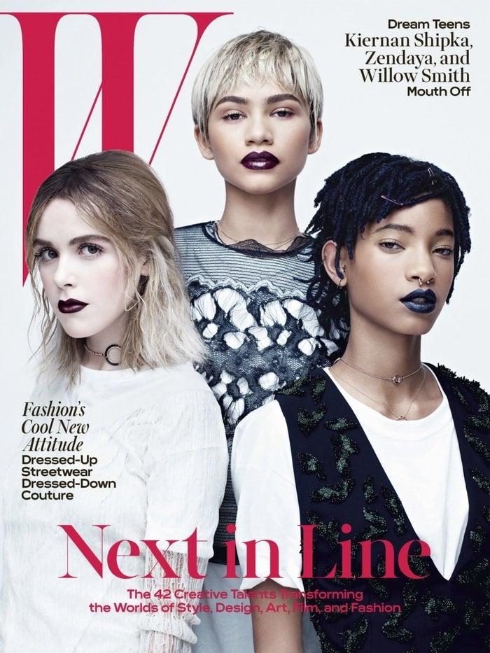 En mars 2016, les chanteuses et actrices Zendaya et Willow Smith avaient été blanchies (voire grisées) en couverture du magazine W. Cette polémique avait donné lieu à de nombreuses réactions sur Twitter avec des femmes célébrant la beauté noire à travers le hashtag #BlackGirlMagic.