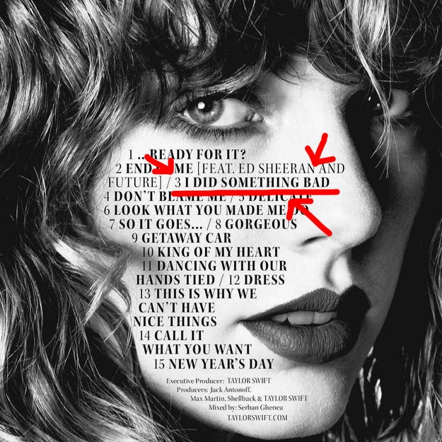 "And while all 15 songs are wonderful in their own special ways, there's one we need to talk about specifically. It is track 3, and it's called ""I Did Something Bad""."