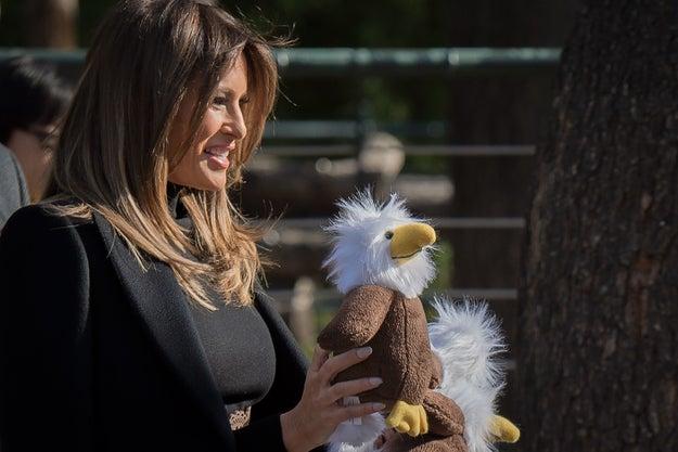She had presents for them. Eagles, fun!