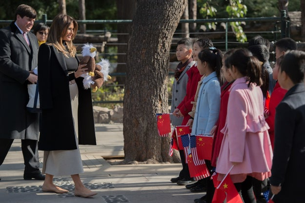 While her husband did boring ~president stuff~ on his tour of Asia, first lady Melania Trump on Friday went to the zoo!