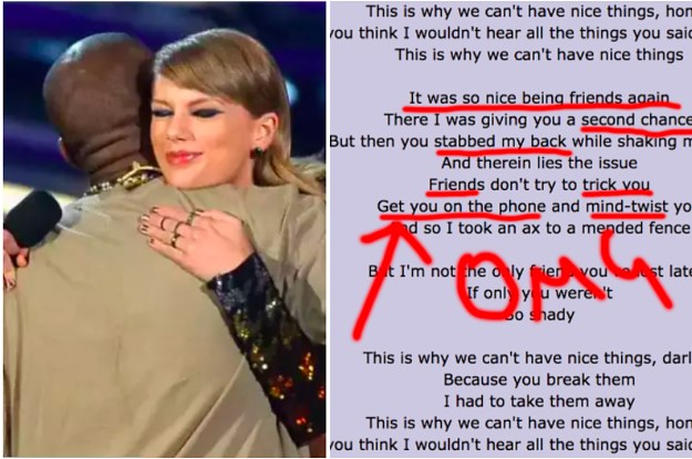 9079d1c67 It Looks Like Taylor Swift Shaded The Fuck Out Of Kanye West On Her New  Album
