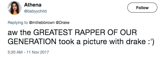 And of course people had jokes, considering that Millie is a pretty good rapper herself.