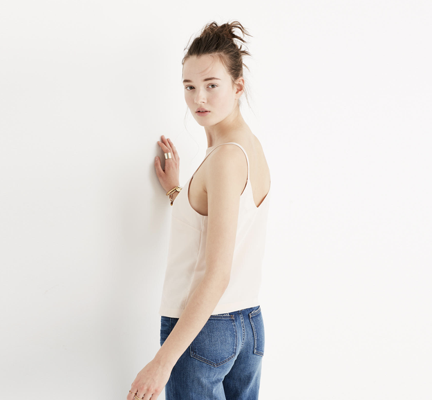 "Madewell is a popular brand known for its vintage-looking jeans and its ""cool girl"" aesthetic. Think no-makeup makeup and tousled #iwokeuplikethis hair."
