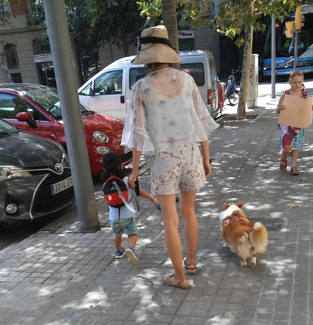 This woman who let her dog off-leash, but not her kid.