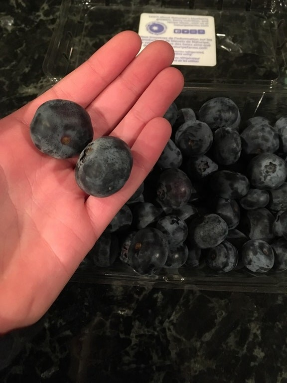 ...and these big-ass blueberries.