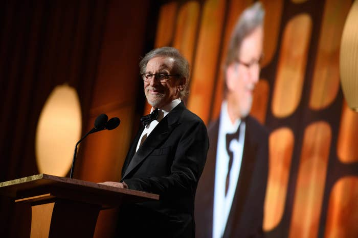 Steven Spielberg speaks as part of the 2017 Governors Awards on Nov. 11.