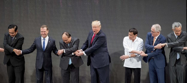 Basically, it looked like all these leaders were playing a game of Red Rover and failing.