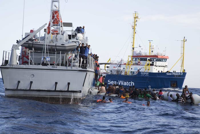 Sea-Watch is a private German aid organization that operates three rescue boats in the Mediterranean.