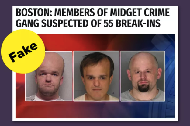 "Another said members of a ""midget crime gang"" was possibly behind 55 break-ins. (They weren't.)"