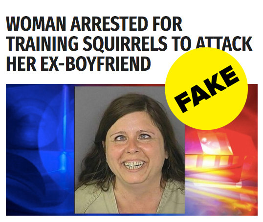 And another post with over a million Facebook engagements said a woman trained an army of squirrels to attack her ex-boyfriend. (She didn't.)