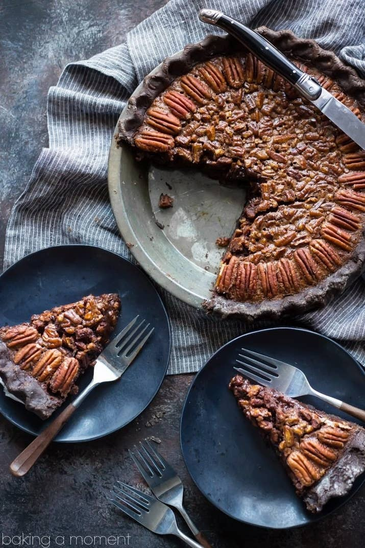 Cocoa powder and bittersweet chocolate transform plain ol' pecan pie into something amazing in this easy-to-make (but mad impressive) rendition. Get the recipe here.