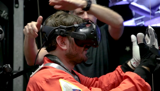 Then it was time to experience some of the gnarliest virtual reality you'll ever see!