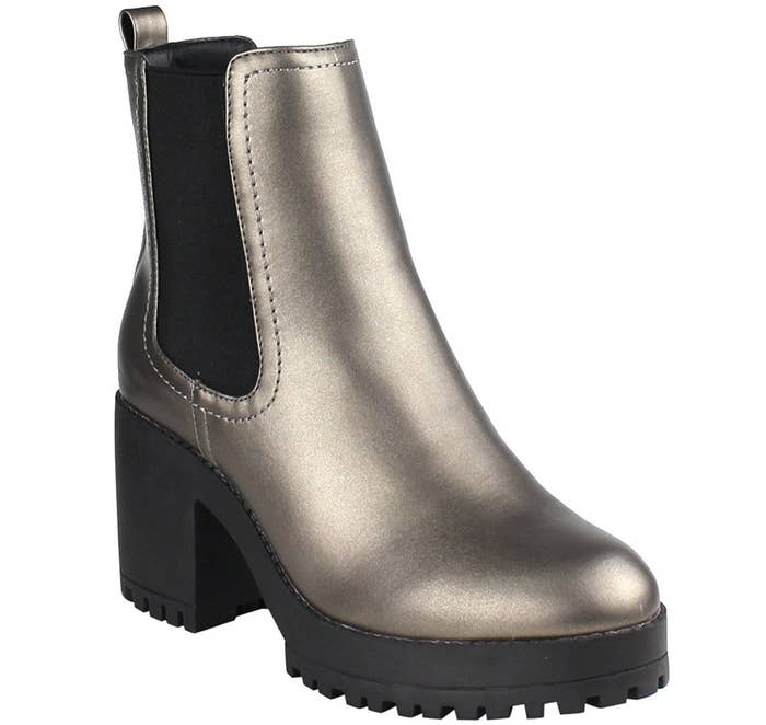 5b3cb8bc37fc Metallic Chelsea boots so you can stomp out snowy days that cause  unfashionable ruts.