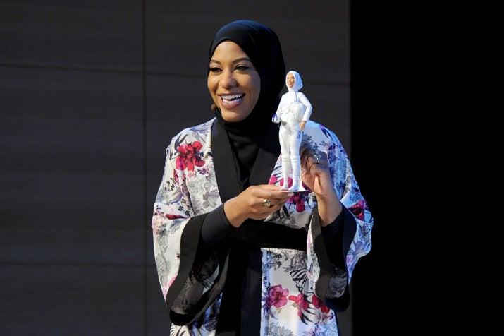 """Barbie is celebrating Ibtihaj not only for her accolades as an Olympian, but for embracing what makes her stand out,"" Sejal Shal Miller, Barbie's Vice President of Global Marketing, said in a press release. ""Ibtihaj is an inspiration to countless girls who never saw themselves represented, and by honoring her story, we hope this doll reminds them that they can be and do anything."""