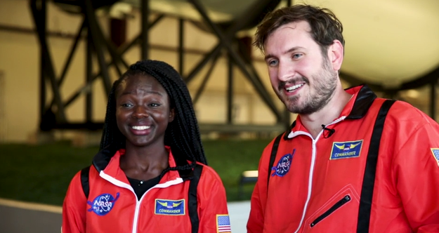 Both Selorm and Branden did an AMAZING job and could totally have a second career in NASA.