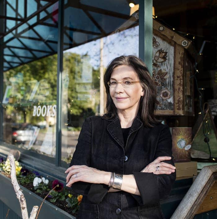 Louise Erdrich outside her bookstore, Birchbark Books, in Minneapolis, on May 5, 2016.