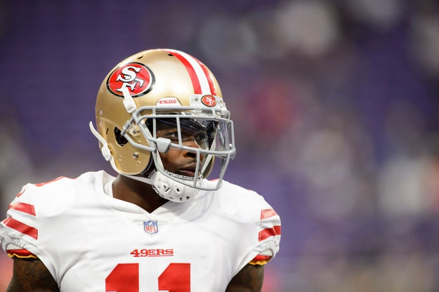 Marquise Goodwin, a wide receiver and kick returner for the San Francisco 49ers, had to suit up to play a game against the New York Giants after receiving devastating news on Sunday.