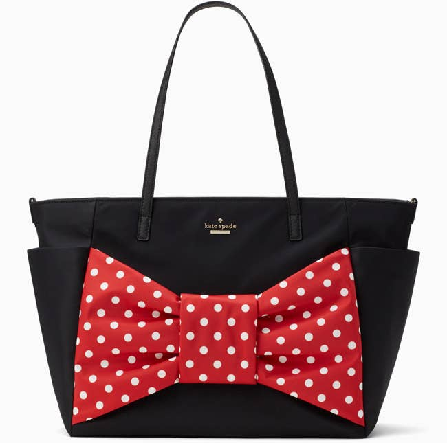 A Show Stopping Kate Spade New York Bag With An Oversized Minnie Mouse Bow That Ll Totally Be Baby Couture