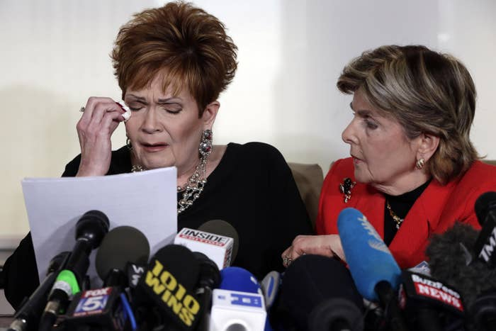 Beverly Young Nelson (left) with attorney Gloria Allred