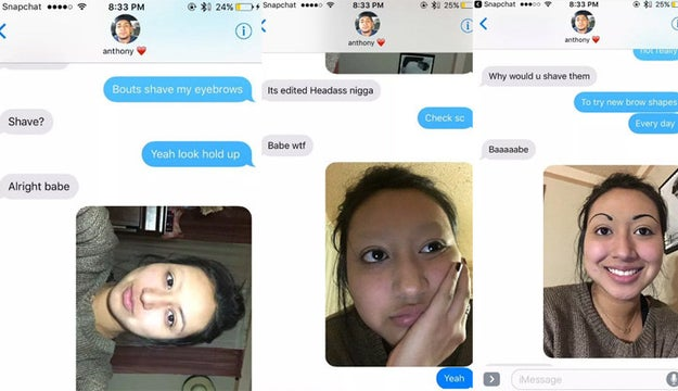 This girl, who sent her boyfriend into a panic with this savage prank: