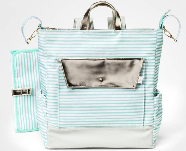 d662ce6e59c1 A lovely striped bag that also can be worn as a backpack to carry all your  little one s items.