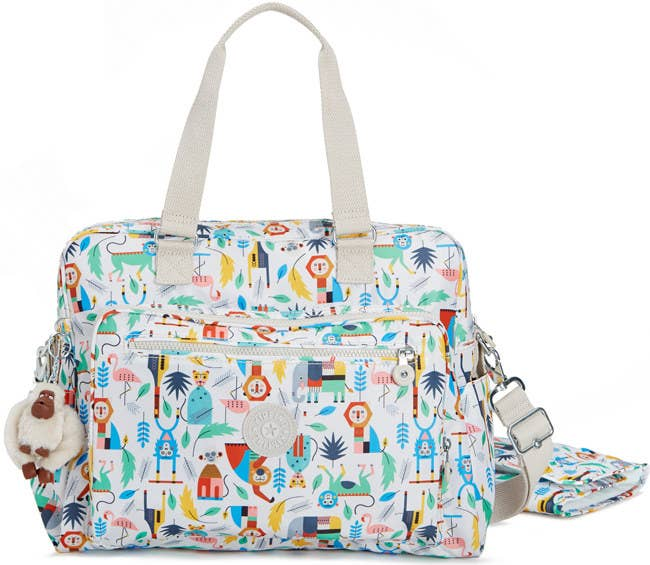 A Zip Closure Bag You Ll Adore Thanks To Its Whimsical Print And Amazing Monkey Key Fob