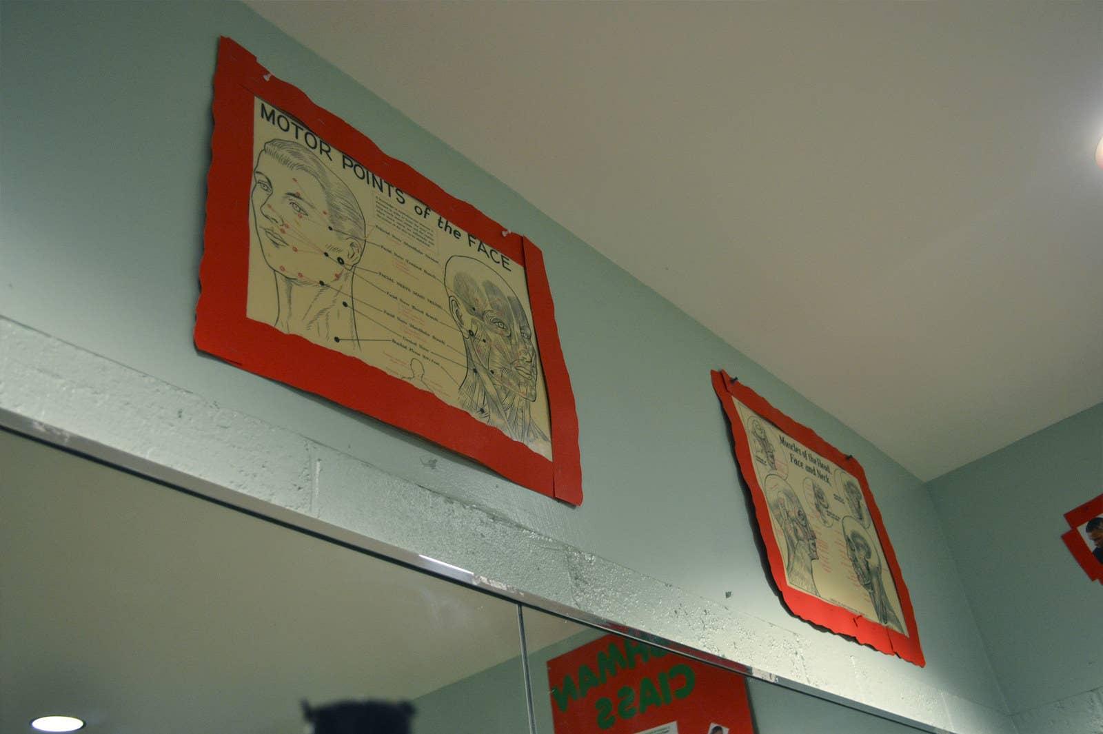 Diagrams hang in the Pro Way classroom.