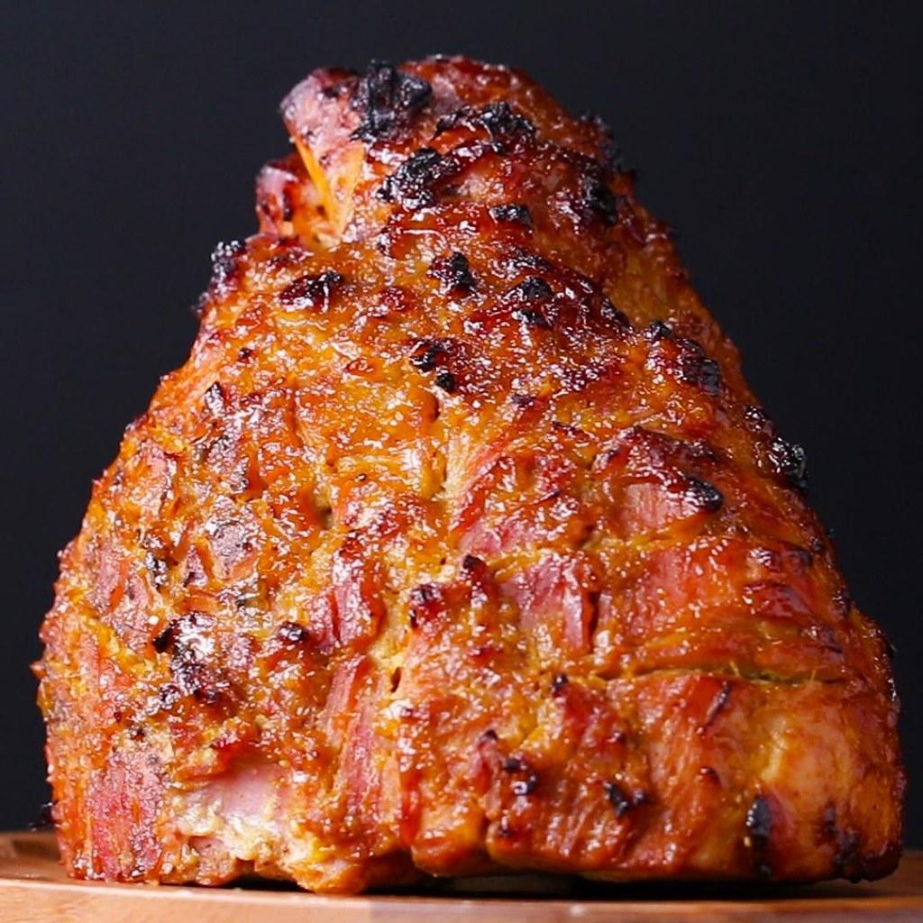 Ce jambon glac la moutarde et au miel va enchanter tout - Grille un feu orange combien de point ...