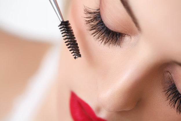 Blink your lashes on a square of toilet paper to catch excess mascara before it smears all over your cheeks.