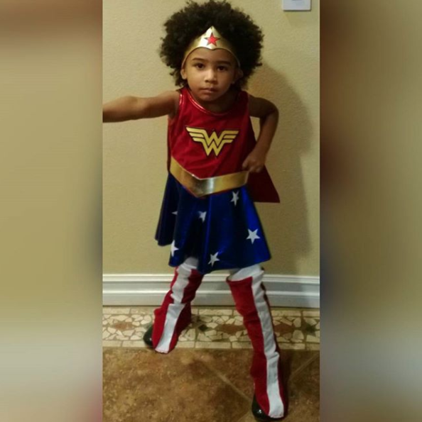 """'You gotta wear your hair exactly the way it is,'"" is what she tells Genesis. ""'You can be Wonder Woman, but you gotta be Wonder Woman with your hair. You can be Elsa, but you gotta be Elsa with your hair.'"""